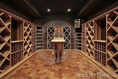Cantine prefabbricate in legno per l'affinamento del vino.
